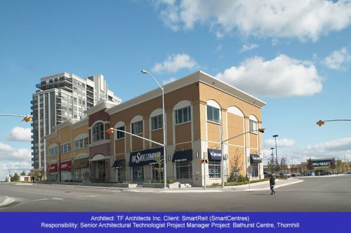 Retail Building Facade Refacing - Bathurst Centre - Thornhill Ontario