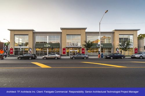 LCBO Building Refacing Project - Danforth Toronto